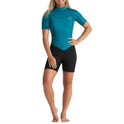 Billabong 2mm Synergy Back Zip Short Sleeve Springsuit - Women's