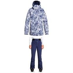 Roxy GORE-TEX 2L Glade Printed Jacket + Roxy Rising High Pants - Women's