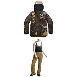The North Face Superlu Jacket + The North Face Freedom Bibs - Women's