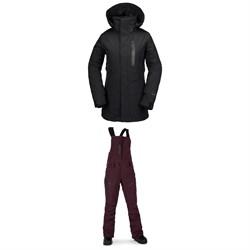 Volcom Eva Insulated GORE-TEX Jacket + Volcom Elm GORE-TEX Bib Overalls - Women's