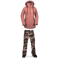 Volcom Fern Insulated GORE-TEX Pullover Jacket ​+ Volcom Aston GORE-TEX Pants - Women's
