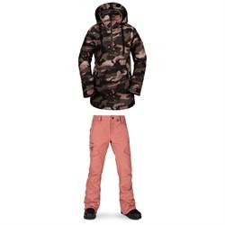 Volcom Fern Insulated GORE-TEX Pullover Jacket + Volcom Aston GORE-TEX Pants - Women's