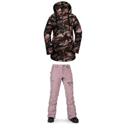 Volcom Fern Insulated GORE-TEX Pullover Jacket + Volcom Knox Insulated GORE-TEX Pants - Women's