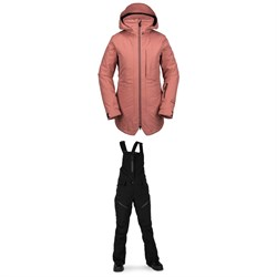 Volcom Iris 3-in-1 GORE-TEX Jacket + Elm GORE-TEX Bib Overalls - Women's