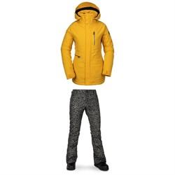 Volcom Shelter 3D Stretch Jacket + Battle Stretch Pants - Women's