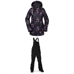 Volcom Westland Insulated Jacket ​+ Volcom Swift Bib Overalls - Women's