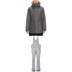 686 Dream Insulated Jacket ​+ Black Magic Insulated Bibs - Women's