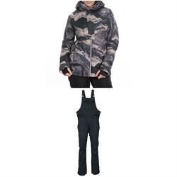 686 Rumor Insulated Jacket + 686 Black Magic Insulated Bibs - Women's