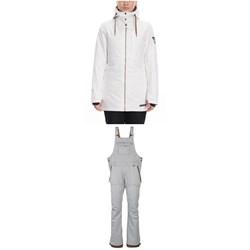 686 Aeon Insulated Jacket + 686 Black Magic Insulated Bibs - Women's