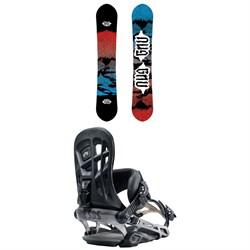 GNU T2B Snowboard + Rome 390 Boss Snowboard Bindings