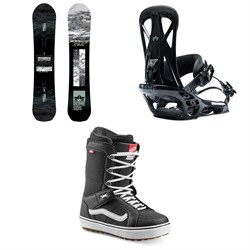 Rome Warden Snowboard + Rome United Snowboard Bindings + Vans Hi Standard OG Snowboard Boots 2020