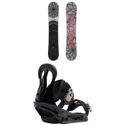 Roxy Ally Banana Snowboard - Women's + Burton Citizen Snowboard Bindings - Women's