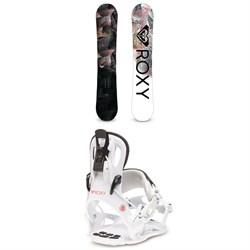 Roxy Ally Banana Snowboard - Women's + Roxy Rock-It Dash Snowboard Bindings - Women's 2020