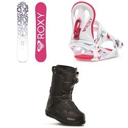 Roxy Glow Snowboard + Roxy Glow Snowboard Bindings + thirtytwo Shifty Boa Snowboard Boots - Women's 2020