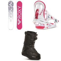 Roxy Glow Snowboard - Women's ​+ Roxy Glow Snowboard Bindings - Women's ​+ thirtytwo Shifty Boa Snowboard Boots - Women's 2020