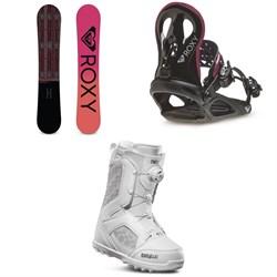 Roxy Wahine Snowboard + Roxy Wahine Snowboard Bindings + thirtytwo STW Boa Snowboard Boots - Women's 2020