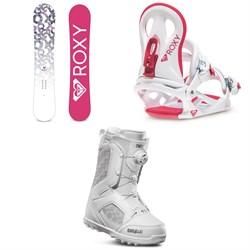Roxy Glow Snowboard + Roxy Glow Snowboard Bindings + thirtytwo STW Boa Snowboard Boots - Women's 2020