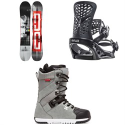 DC Ply Snowboard ​+ Flux PR Snowboard Bindings ​+ DC Mutiny Snowboard Boots 2020