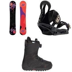K2 First Lite Snowboard  + Burton Citizen Snowboard Bindings  + Mint Boa R Snowboard Boots - Women's 2018