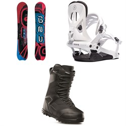 GNU Hyak BTX Snowboard ​+ Rome Arsenal Snowboard Bindings ​+ thirtytwo Prion Snowboard Boots