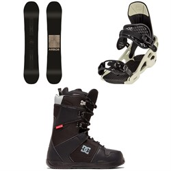 Arbor Formula Camber Snowboard ​+ Arbor Spruce Snowboard Bindings ​+ DC Phase Snowboard Boots 2020
