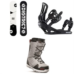 Rossignol District Snowboard + Battle Snowboard Bindings + thirtytwo Exit Snowboard Boots 2020