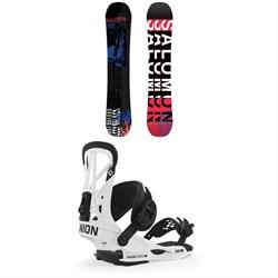 Salomon Sleepwalker Snowboard + Union Flite Pro Snowboard Bindings 2020