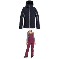 Roxy Premiere Snow Jacket ​+ Rideout Bib Pants - Women's