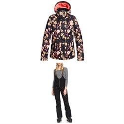 Roxy Torah Bright Jetty Jacket + Torah Bright Summit Bib Pants - Women's