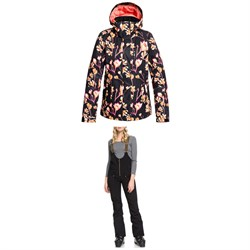 Roxy Torah Bright Jetty Jacket ​+ Torah Bright Summit Bib Pants - Women's