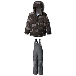 Columbia Mighty Mogul Jacket - Boys' ​+ Columbia Adventure Ride Bibs - Big Kids'