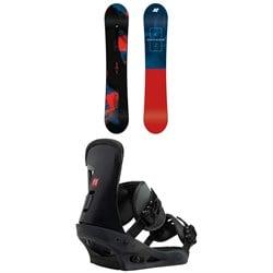 K2 Raygun Snowboard + Burton Freestyle Snowboard Bindings