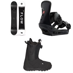 Flow Merc Snowboard 2018 + Burton Freestyle Snowboard Bindings  + Moto Boa R Snowboard Boots 2018