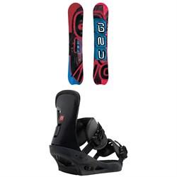 GNU Hyak BTX Snowboard + Burton Freestyle Snowboard Bindings