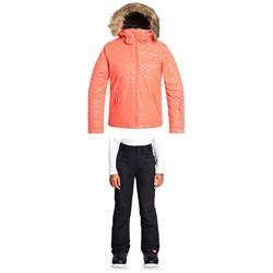 Roxy American Pie Solid Jacket + Backyard Pants - Big Girls'