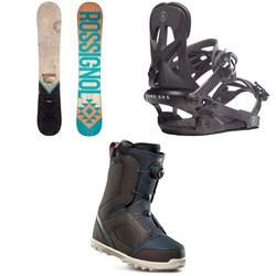 Rossignol Templar Snowboard + Rome Arsenal Snowboard Bindings + thirtytwo STW Boa Snowboard Boots