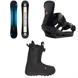 Rossignol Sawblade Snowboard  + Burton Freestyle Snowboard Bindings  + Moto Boa R Snowboard Boots 2018