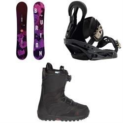 Burton Stylus Snowboard   + Citizen Snowboard Bindings  + Mint Boa R Snowboard Boots - Women's 2018