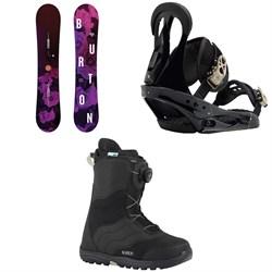 Burton Stylus Snowboard   + Citizen Snowboard Bindings  + Mint Boa Snowboard Boots - Women's 2018