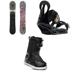 Roxy Ally Banana Snowboard + Burton Citizen Snowboard Bindings + thirtytwo Shifty Boa Snowboard Boots - Women's