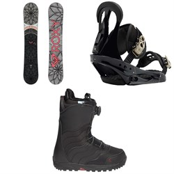 Roxy Ally Banana Snowboard  + Burton Citizen Snowboard Bindings  + Burton Mint Boa R Snowboard Boots - Women's 2018