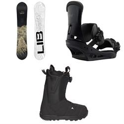 Lib Tech Skate Banana BTX Snowboard  + Burton Custom Snowboard Bindings  + Moto Boa R Snowboard Boots 2018