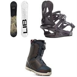 Lib Tech Skate Banana BTX Snowboard + Rome Arsenal Snowboard Bindings + thirtytwo STW Boa Snowboard Boots