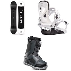 Flow Merc Snowboard 2018 ​+ Rome Arsenal Snowboard Bindings  ​+ thirtytwo STW Boa Snowboard Boots
