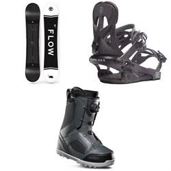 Flow Merc Snowboard 2018 + Rome Arsenal Snowboard Bindings  + thirtytwo STW Boa Snowboard Boots