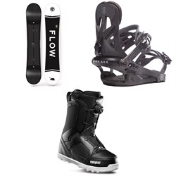 Flow Merc Snowboard 2018 + Rome Arsenal Snowboard Bindings 2019 + thirtytwo STW Boa Snowboard Boots 2019