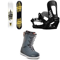 Lobster Jib Snowboard + Switchback Smith Snowboard Bindings + thirtytwo Zephyr Snowboard Boots