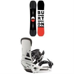 Burton Custom Flying V Snowboard + Burton Malavita EST Snowboard Bindings 2020