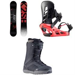 K2 Standard Snowboard + K2 Sonic Snowboard Bindings + K2 Raider Snowboard Boots 2020