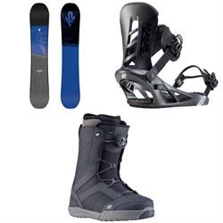 K2 Raygun Snowboard + K2 Sonic Snowboard Bindings + K2 Raider Snowboard Boots